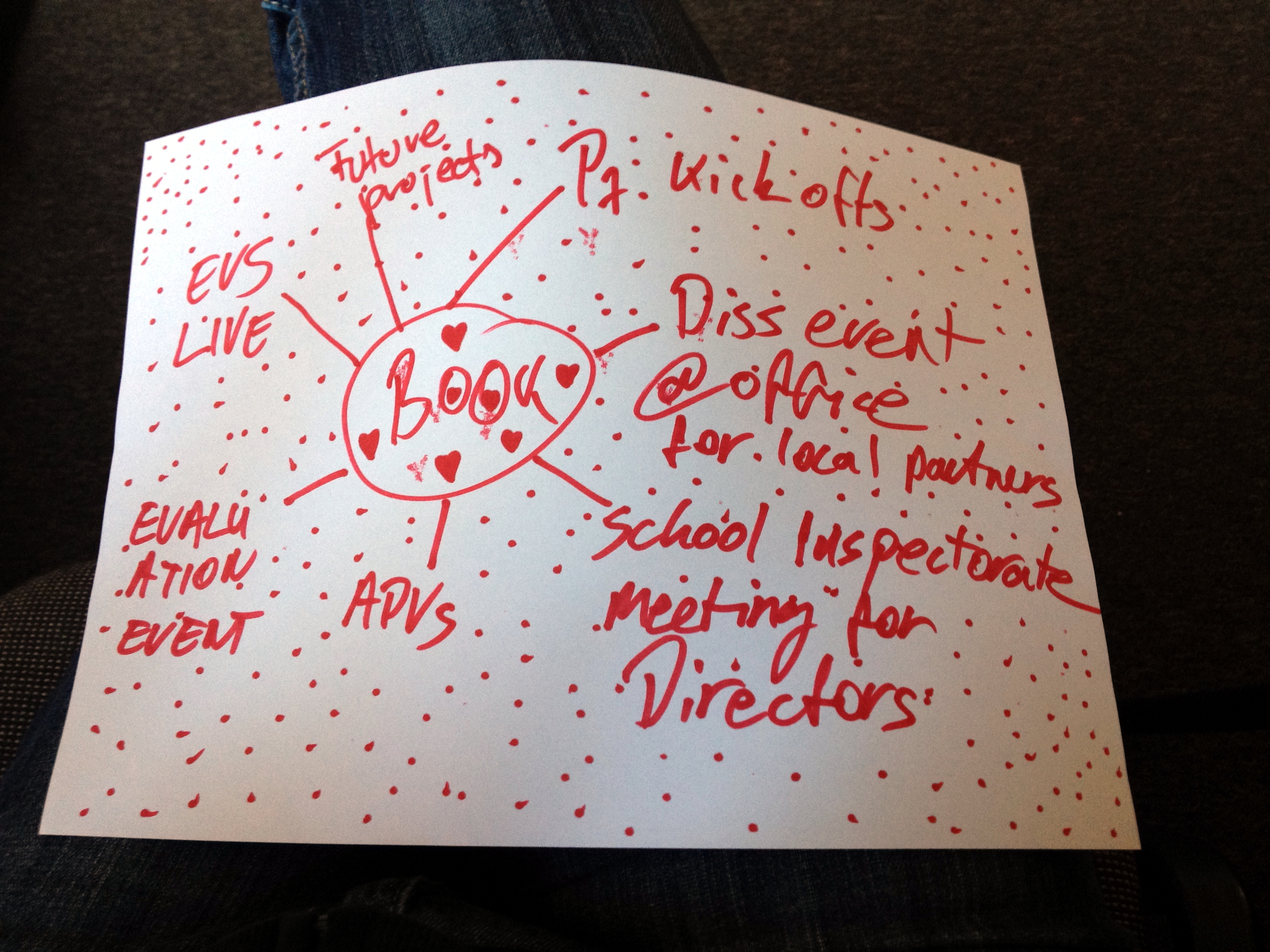 Mind mapping during a workshop for youth leaders (project: FIX FIX FIX)